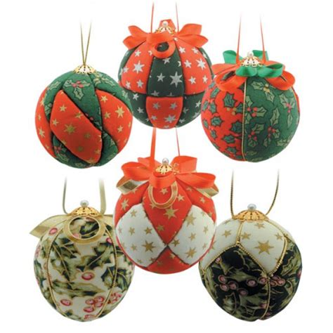 bauble decorations fabric baubles