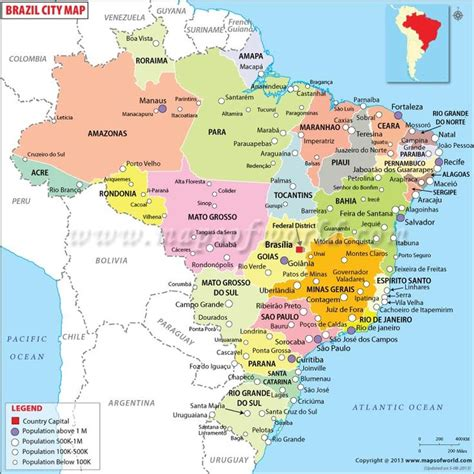 brazil map brazil cities map countries