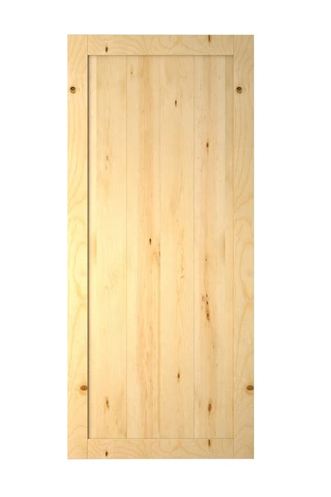 unfinished interior wood doors 36 quot x84 quot one panel v groove unfinished solid pine interior