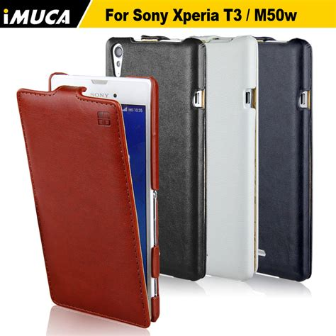 Flipcase Sony Experia T3 D5103 Flip Cover Leather Softcase imuca for sony xperia t3 m50w luxury flip leather cover for xperia t3 m50w d5103 cell phone