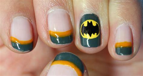 nail art batman tutorial batman nail tutorial redux youtube