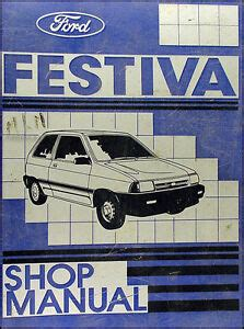 how to download repair manuals 1992 ford festiva security system 1989 ford festiva original repair shop manual 89 l l plus lx service book ebay