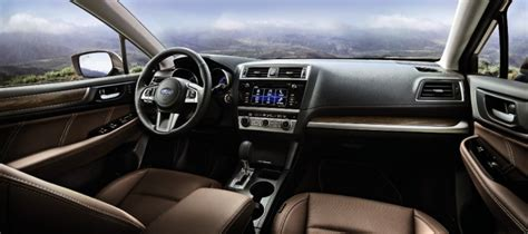 subaru touring interior 2017 subaru outback legacy debut with trims the