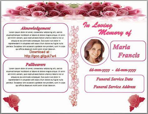 79 Best Funeral Program Templates For Ms Word To Download Images On Pinterest Program Booklet Design Template