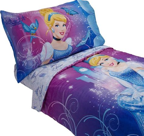 Disney Cinderella Toddler Bedding Set 4 Piece Magic Princess Bed Contemporary