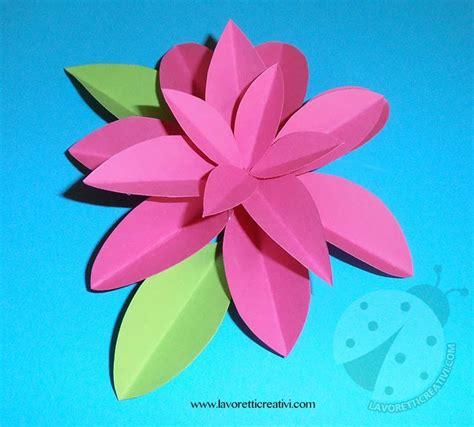 fiori semplici di carta come realizzare fiori di carta lavoretti creativi