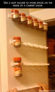 amazing easy diy home decor ideas mop holder spice rack