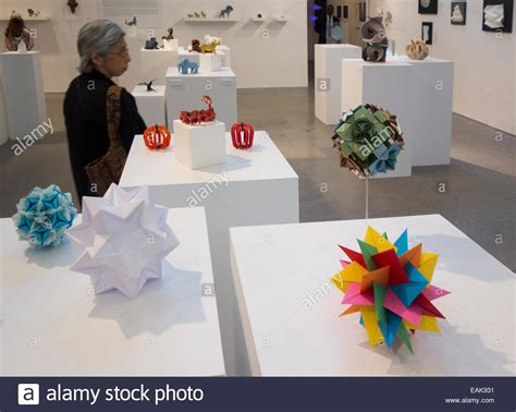 Origami Exhibit - origami exhibition at cooper union in nyc stock photo