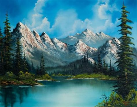 bob ross paintings for sale uk the 25 best mountain paintings ideas on
