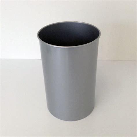 decorative wastebasket decorative steel wastebasket with clear aluminum finish