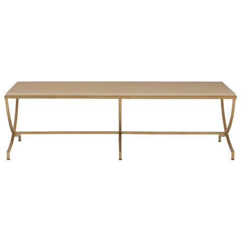 Soft Coffee Table Flora Regency Soft Gold Steel Coffee Table Kathy Kuo Home