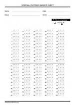 Bubble answer sheets english genie