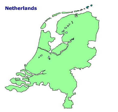netherlands country map map of netherlands terrain area and outline maps of