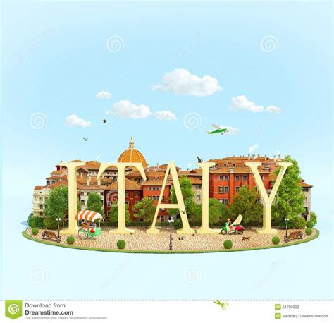 world italy word italy on the square stock illustration image 51780303