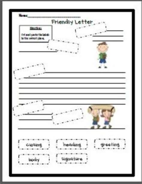 friendly letter cut  paste  janna walsh teachers