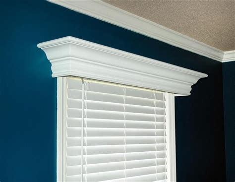 Custom Valances And Cornices ashton custom wood cornice up window and to the wall