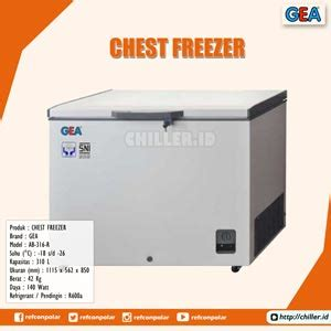 Chest Freezer Ab 506 T X Gea jual ab 316 r chest freezer brand gea harga murah di tangerang