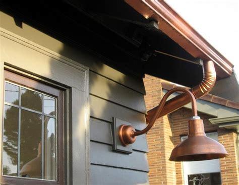 Barn Style Outdoor Lighting Copper Gooseneck Lighting For 1920s Craftsman Style Home Barnlightelectric Home