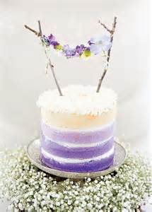 Twig and flower bunting cake topper for a lavender hued wedding cake