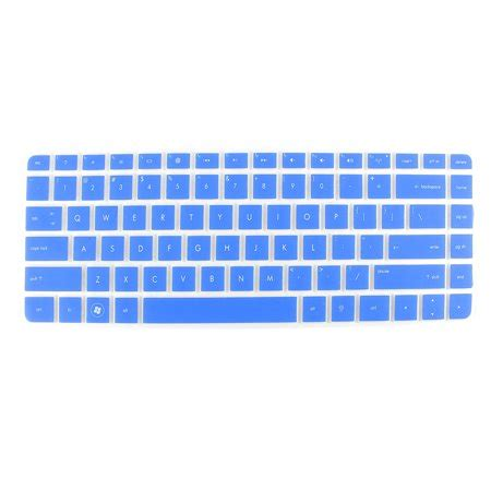 blue silicone laptop keyboard protector film skin for hp