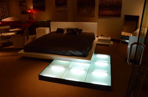 bed with lights platform bed with lights galaxy contemporary style