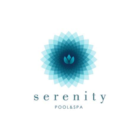 serenity pool spa logo design gallery inspiration
