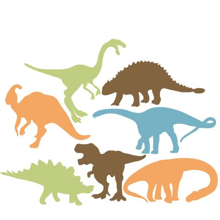 Dino Cut dinosaur silhouette set svg scrapbook title cat svg cut files kitten svg cut files free svgs