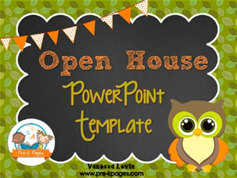 open house powerpoint template owl open house powerpoint pre k pages