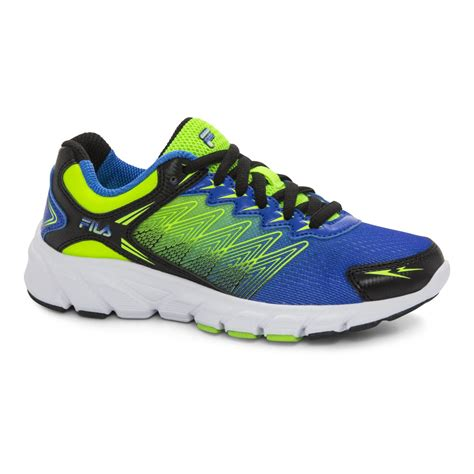 neon athletic shoes fila boys speedcross blue neon green neon yellow athletic