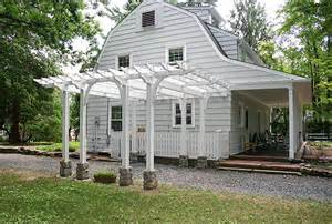 Carport Attached To House driveway pergola by trellis structures