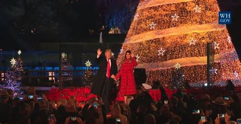 potus news trump s speech and the lighting of the national christmas tree met with many empty