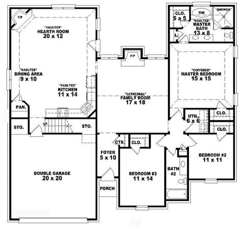3 bedroom low cost house plans 3 bedroom 2 bath 1 story house plans beautiful plain house