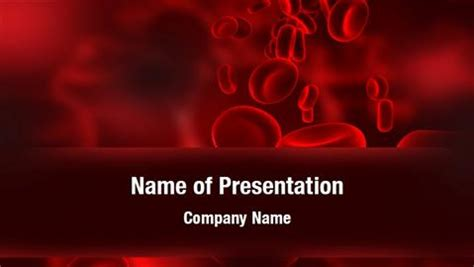 Red Blood Cells Powerpoint Templates Red Blood Cells Powerpoint Backgrounds Templates For Blood Powerpoint Template