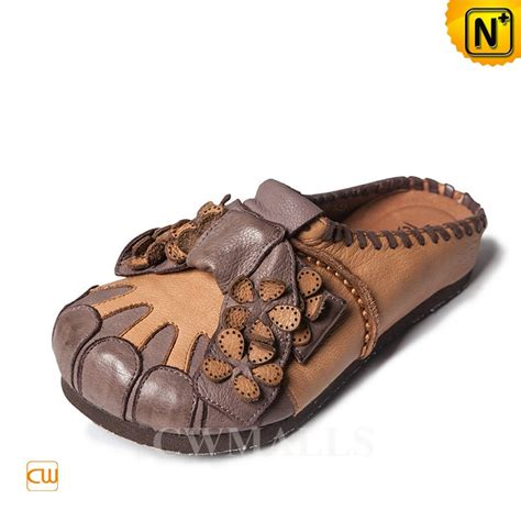 Handcrafted Sandals - cwmalls 174 handmade leather sandals with bow cw306203