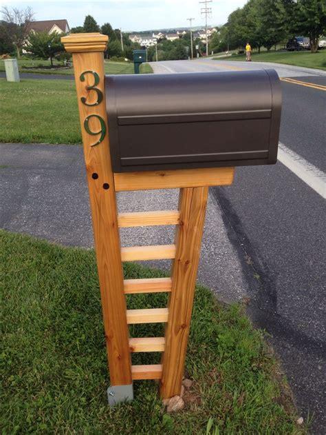 diy mailbox cedar mailbox post plans woodworking projects plans