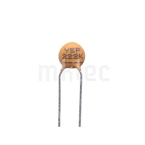 ceramic disc capacitor description 2 2nf 222 ceramic disc capacitor xicon
