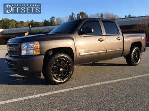 Chevy Truck Wheel Backspacing Wheel Offset 2011 Chevrolet Silverado 1500 Aggressive 1
