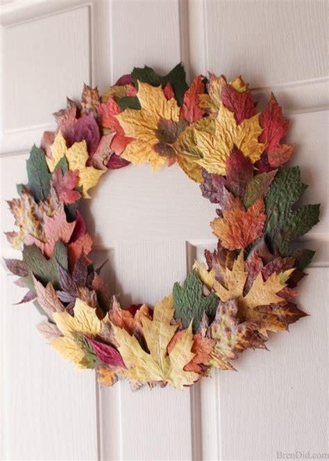 fall front door wreaths fall leaves front door wreath for 0 bren did
