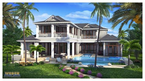 Home Design Florida Naples Fl Architecture West Indies Style House Plan