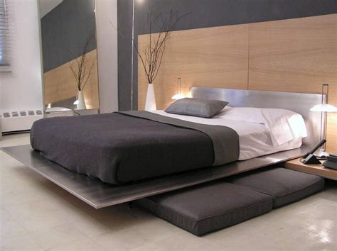stainless steel headboards contemporary minimal platform bed in brushed stainless