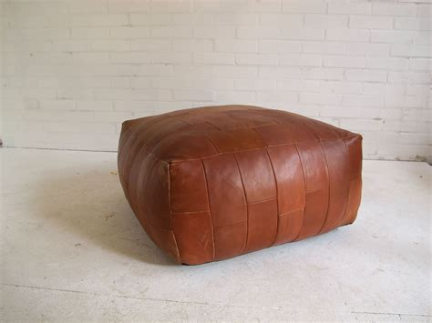mid century leather patchwork ottoman from de sede 1976