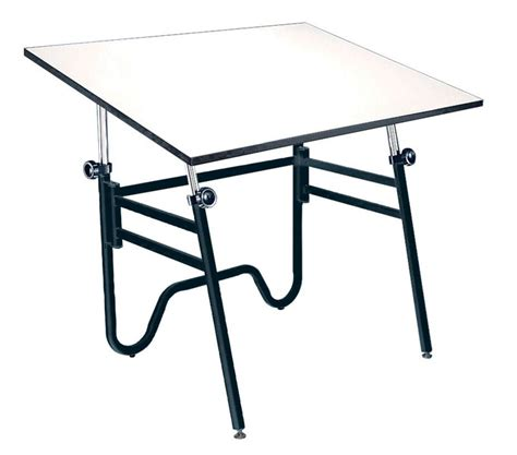 Collapsible Drafting Table Alvin 36x48 Opal Folding Drafting Table Compact Portable Black Base
