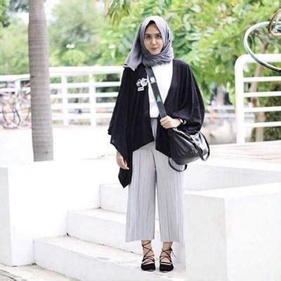 Setelan Stelan Celana Kulot Wanita Atasan Katun Ima Toyobo 4 inspirasi padu padan celana kulot untuk hijabers muslim
