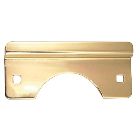security polished brass latch guard for out