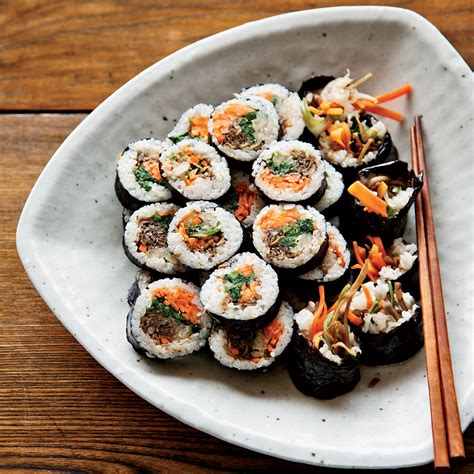 korean sushi rolls with walnut edamame crumble recipe david chang food wine