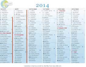 Calendrier De 2014 Calendrier 224 Imprimer 2014
