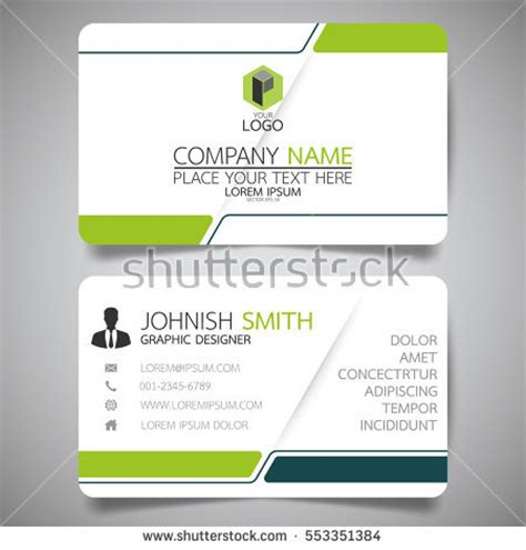 simple name card template name card stock images royalty free images vectors