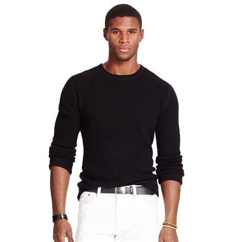 Hoodie Jumper Polos Black Jmp3 polo ralph waffle knit sweater in black