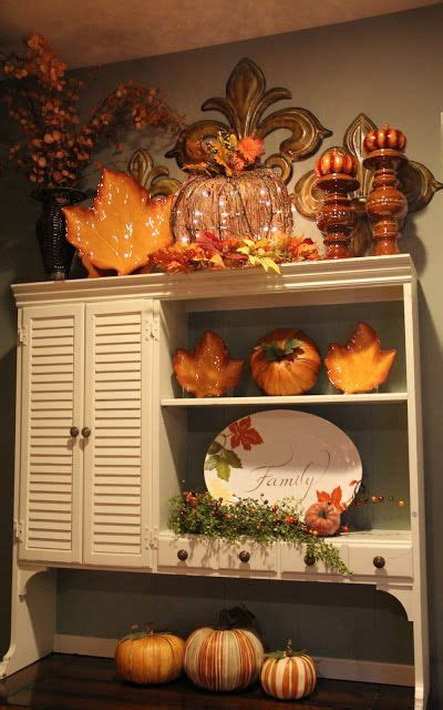fall kitchen decorating ideas 17 best images about hutch cabinet on pinterest painted