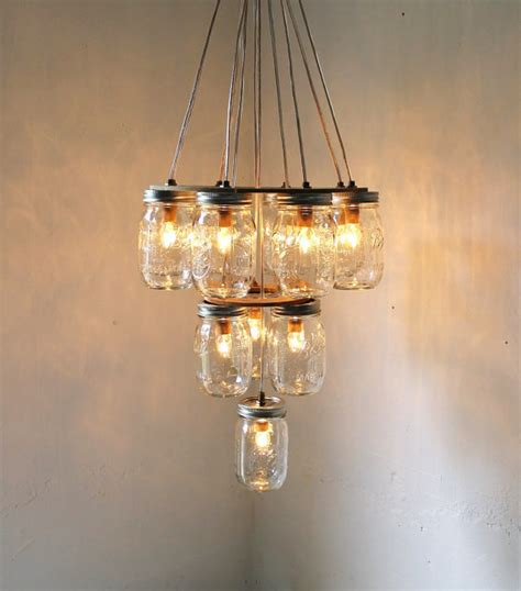 Diy Rustic Chandelier Upcycled Jar Lights From Boots N Gus Epheriell Designs